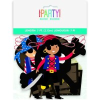Ahoy Pirate 7ft Paper Banner