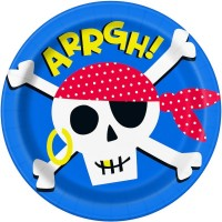 """Ahoy Pirate 9"""" Plates 8ct"""
