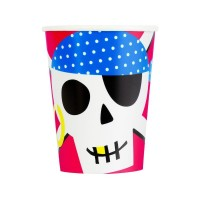 Ahoy Pirate Party Cups 8ct