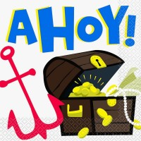 Ahoy Pirate Lunch Napkins 16ct