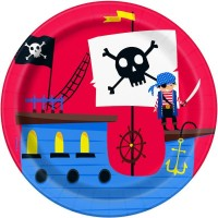 """Ahoy Pirate 7"""" Plates 8ct"""
