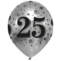 25th Anniversary Chromium Pro Latex Balloons 25Ct