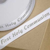 Printed Ribbon Communion 20mm x 50M Silver