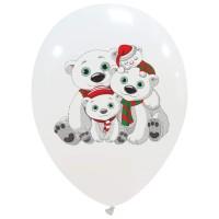 "Polar Bears 12"" Latex Balloons 25Ct"