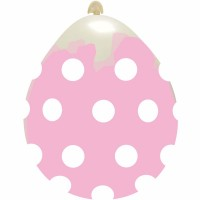 "Superior 18"" Stuffing Balloon Clear Polka Dots Latex 10ct"