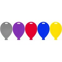 Balloon Shape Weights Primary Mix x100pcs