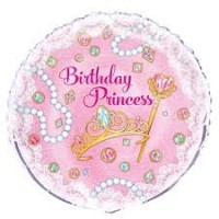 "Pink Princess 18"" foil balloon"