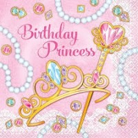Pink Princess Luncheon Napkins 16ct