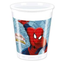 Plastic Cups 200ml - Ultimate Spider Man Web Warriors