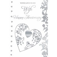 On Our Anniversary - With Love To My Wife - Pack Of 12