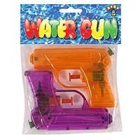 Water Gun 11cm - 2 Pack. 6 Astd Neon Cols