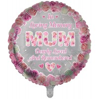 "In Loving Memory Mum Dearly Loved and Remembered 18"" Foil Balloon"