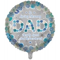 "In Loving Memory Dad Dearly Loved and Remembered 18"" Foil Balloon"