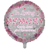 "In Loving Memory Dearly Loved and Remembered 18"" Foil Balloon"