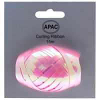 Iridescent Pink Ribbon Cop on Header 15m