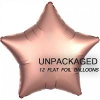 "Rose Gold - Star Shape - 18"" foil balloon (Pack of 12, Flat)"