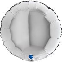 "Round 18"" Silver Balloon GRABO Flat"