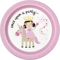Once Upon A Party - Princess Unicorn - 21.9cm Plates - 8CT