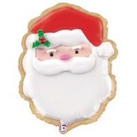 "Santa Cookie 24"" Foil Balloon"