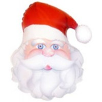 "SANTA HEAD - 27""  FOIL BALLOON"
