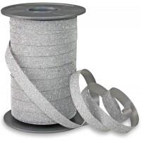 Silver Glitter 5mm Curling Ribbon Franco Perro 150m