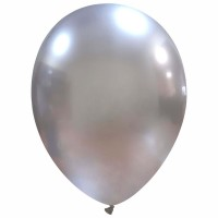 "12"" Chromium Silver Superior Latex Balloons 25ct"