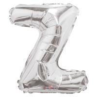Silver Letter Balloon - Z - (14inch)