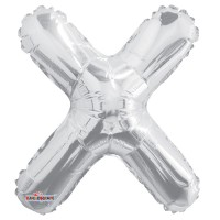 Silver Letter Balloon - X - (14inch)