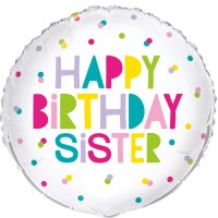 "Happy Birthday Sister x5 18"" Foil Balloons"