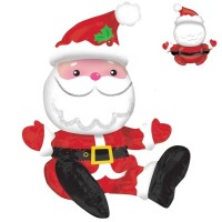 Sitting Santa Multi Balloon 19in x 21in Foil Balloon