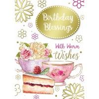 Birthday Blessings - Open Female - Pack Of 12