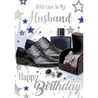 Happy Birthday - Husband - Pack Of 12