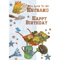 Happy Birthday- With Love To My Husband - Pack Of 12