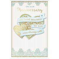 On Our Wedding Anniversary - With Love - Pack Of 12