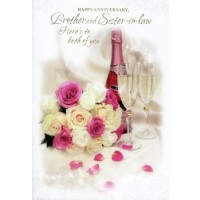 Anniversary Wishes - Brother & Sister In Law - Pack Of 12