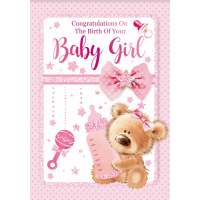 Your Baby Girl - Congratulations - Pack Of 12