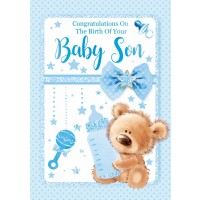 Baby Son - Congratulations - Pack Of 12