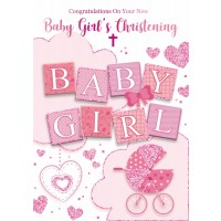 Christening Day - Baby Girl - Pack Of 12