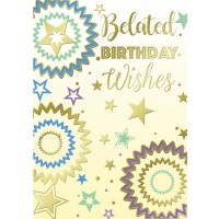 Belated Birthday Wishes - Open Male/Female - Pack Of 12