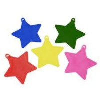 Primary Colours Star Assorted Plastic Weights x50