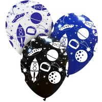 """Space Superior 12"""" Latex Balloons 25Ct"""