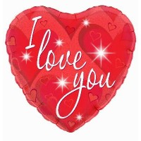 I love You - Sparkles 18inch Foil