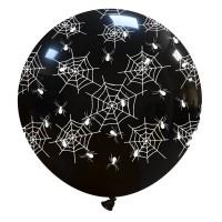 "Spider Web Halloween Superior 32"" Latex Balloon 1Ct"