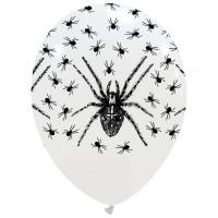 "Spiders Halloween Superior 12"" Latex Balloon 25Ct"
