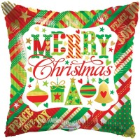 "Merry Christmas SQ 18"" Foil Balloon"