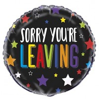 "Sorry Your Leaving 18"" Foil Balloon"