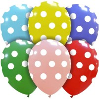 "Standard Colours Polka Dot 12"" Latex 25ct"
