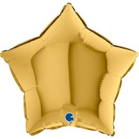 "Star 18"" Gold Foil Balloon GRABO Flat"