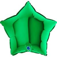 "Star 18"" Green Foil Balloon GRABO Flat"