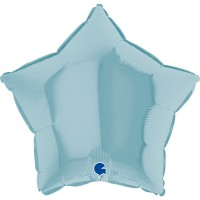 """Star 18"""" Pastel Blue Foil Balloon GRABO Flat"""